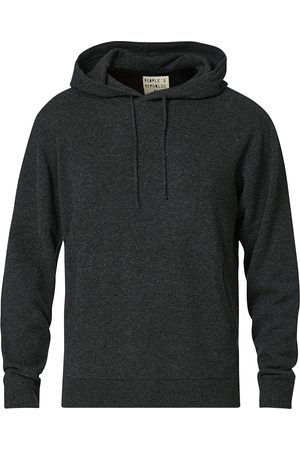 People´s Republic of Cashmere Mænd Sweatshirts - Cashmere Hoodie Dark Grey