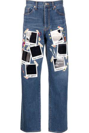 DOUBLET Jeans med lige ben og polaroid-tryk