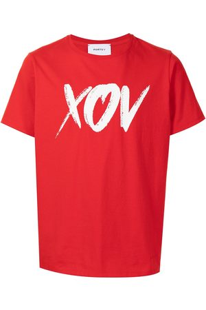 Ports V Kortærmet T-shirt med slogan-tryk