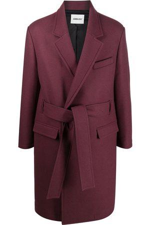 AMBUSH Enkeltradet frakke med bælte