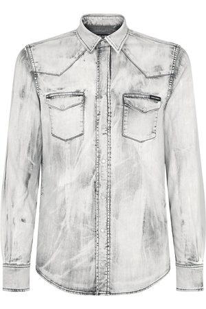 Dolce & Gabbana Bleach wash denim shirt