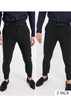 ASOS SPAR! 2-pak sorte superskinny bukser fra