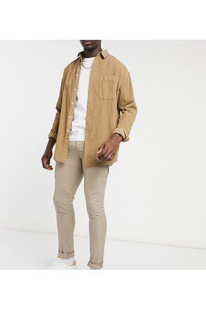 ASOS Tall - Elegante skinny-bukser med cargolomme-Stenfarvet
