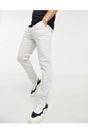 Jack & Jones Intelligence - Beige bukser med stretch i slim fit-Grå