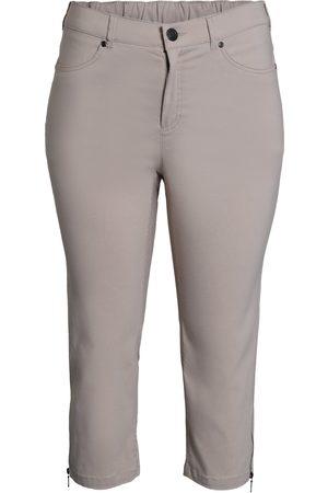 Ciso Bengalin 3/4-bukser med lynlås i ben - Cream - 38
