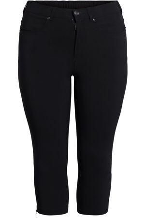 Ciso Bengalin 3/4-bukser med lynlås i ben - Black - 50
