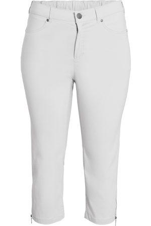 Ciso Bengalin 3/4-bukser med lynlås i ben - White - 38