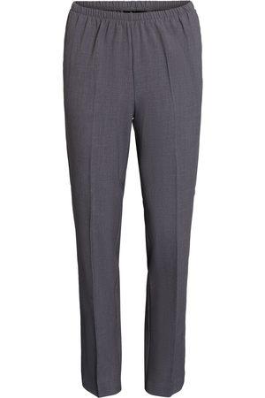 Brandtex Bukser med elastikbånd i taljen, Sofie - Grey Melange - 74 cm / 34