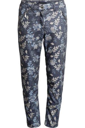 Brandtex 7/8 bukser med print, Madelaine - Midnight Blue - 38