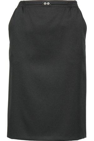 Brandtex Nederdel med elastik og spænde - Black - 38