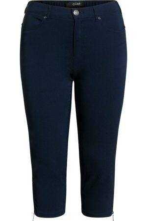 Ciso Bengalin 3/4-bukser med lynlås i ben - Midnight Blue - 56