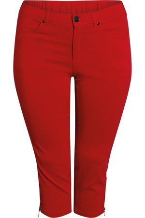 Ciso Bengalin 3/4-bukser med lynlås i ben - Scarlet - 42