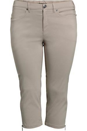 Ciso Bengalin 3/4-bukser med lynlås i ben - Earth - 54