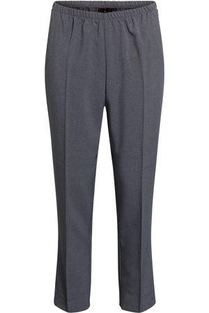 Brandtex Bukser med elastikbånd i taljen, Anna - Washed Grey - 71 cm / 36