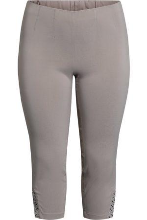 Ciso Bengalin 3/4-bukser med elastik i taljen - Earth - 38