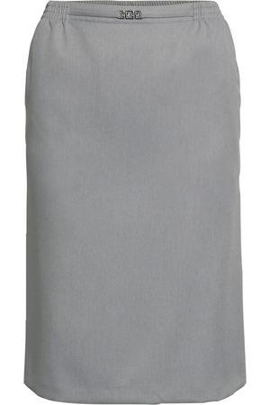 Brandtex Nederdel med elastik og spænde - Grey Melange - 36