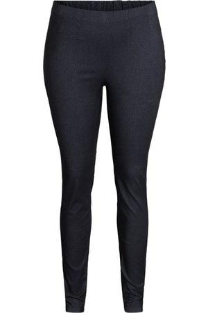 Ciso Bukser med elastisk linning, slank pasform - Koks melange - 44
