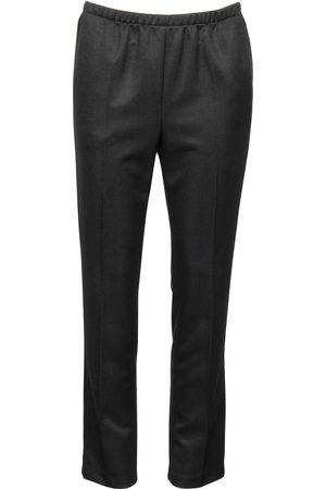 Brandtex Bukser med elastik og skrålomme Anna - Black - 78 cm / 38