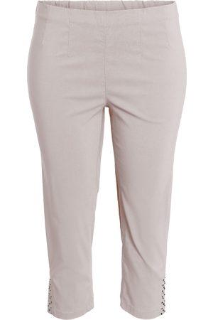 Ciso Bengalin 3/4-bukser med elastik i taljen - Cream - 38