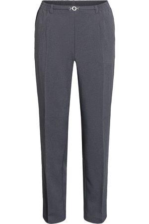 Brandtex Bukser med elastik og spænde / Anna - Washed Grey - 74 cm / 38
