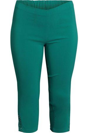 Ciso Bengalin 3/4-bukser med elastik i taljen - Grass Green - 42