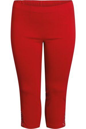 Ciso Bengalin 3/4-bukser med elastik i taljen - Scarlet - 38