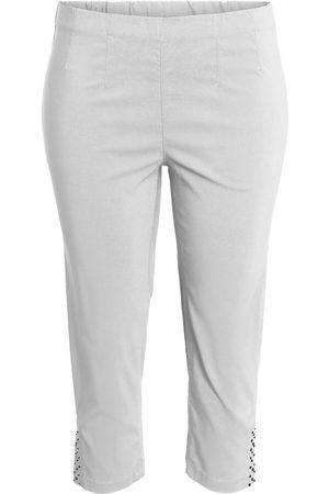 Ciso Bengalin 3/4-bukser med elastik i taljen - White - 38