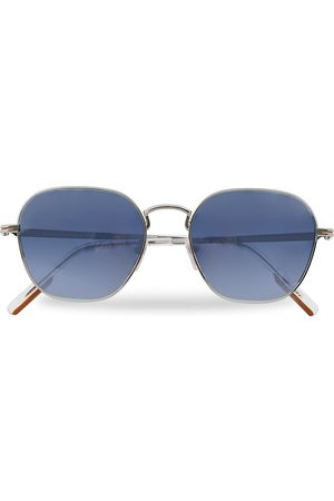 Ermenegildo Zegna EZ0174 Sunglasses Shiny Palladium/Blue Mirror