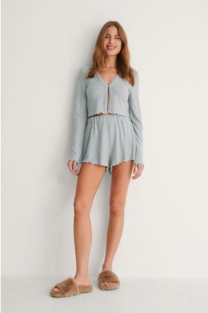 NA-KD Kvinder Pyjamas - Recycled Babylock Waffle Loungewear Shorts