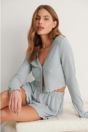 NA-KD Kvinder Pyjamas - Recycled Babylock Waffle Loungewear Top