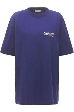 Balenciaga Political Logo Cotton Over T-shirt