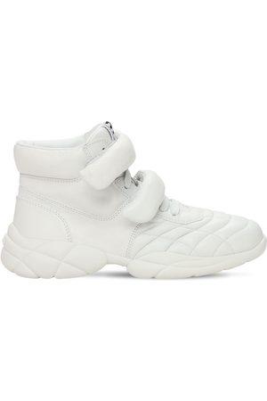 Miu Miu Kvinder Sneakers - 20mm Leather High-top Sneakers