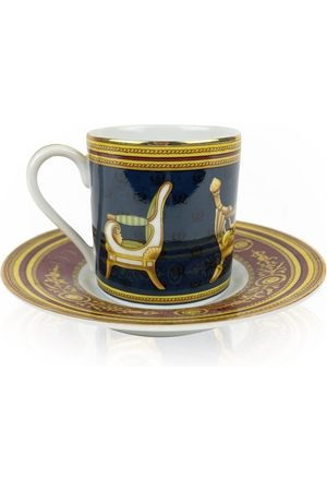 Gucci Porcelain Chair Design Coffee Cup and Saucer