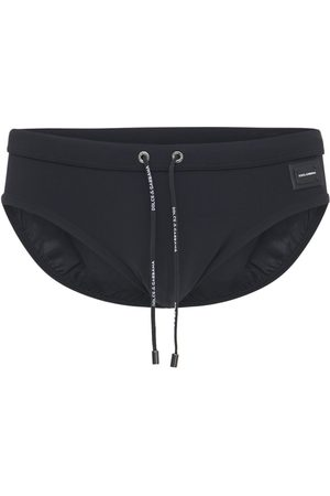 Dolce & Gabbana Logo Plaque Nylon Swim Slip Briefs