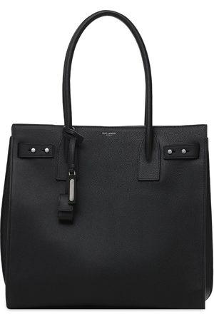 Saint Laurent Logo Leather Tote Bag