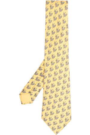 Hermès Pre-owned silkeslips med hjortetryk fra 00'erne