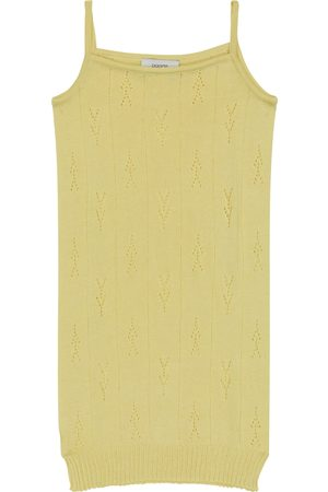 PAADE Kvinder Strikkede kjoler - Pointelle cotton knit dress