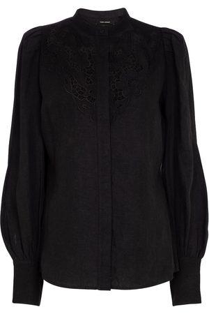 Isabel Marant Kvinder Bluser - Etima lace-trimmed linen-blend blouse