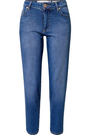 Yellow Blue Denim Jeans 'Mamita