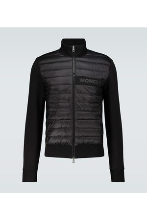 Moncler Mænd Vinterjakker - Bi-fabric cotton-blend cardigan