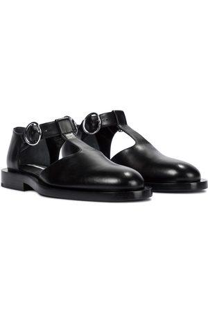 Jil Sander Buckled leather ballet flats