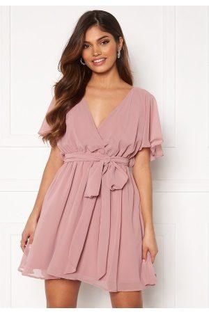 Goddiva Kvinder Casual kjoler - Flutter Skater Dress Lavender S (UK10)