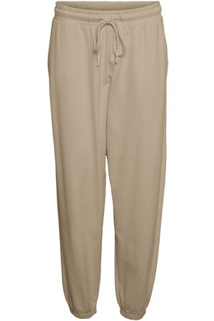 Vero Moda High Waisted Sweatpants Kvinder White