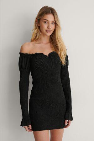 Lisa-Marie Schiffner x NA-KD Kvinder Bodycon kjoler - Off Shoulder Kjole