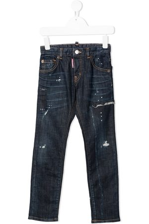 Dsquared2 Drenge Straight - Jeans med lige ben og slitageeffekt