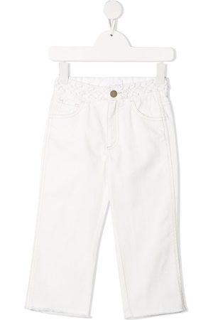 Chloé Mellemhøj jeans med lige ben og flettet kant