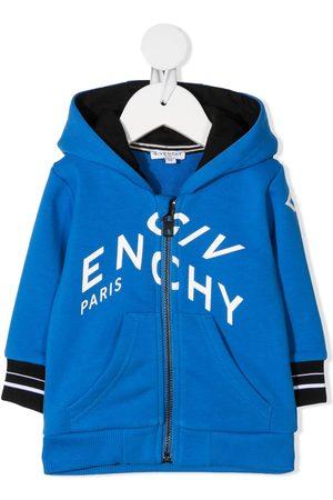 Givenchy Baby Hoodies - Hættetrøje med brudt logotryk og lynlås