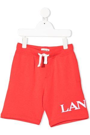 Lanvin Drenge Shorts - Logo print track shorts