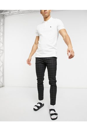 ASOS Smarte super skinny-bukser i sorte tern