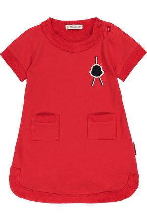 Moncler Baby Kjoler - Baby cotton fleece dress